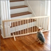 Gate - WOOD - Pet - Free-Standing - Expandable - WHITE